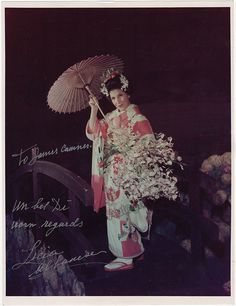 Albanese, Licia - Extra-Large Signed Photo as Madama Butterfly!