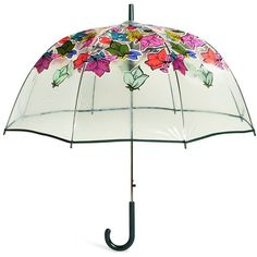 Vera Bradley Auto Open Bubble Umbrella ($44) ❤ liked on Polyvore featuring accessories, umbrellas, falling flowers, clear umbrella, flower umbrella, vera bradley, multicolor umbrella and multi colored umbrellas