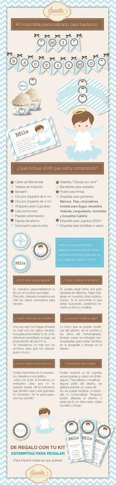 Juanita-Eventos-Sociales-Kit-imprimible-bautismo-nene. Candy Bar - Mesa dulce temática - Golosinas personalizadas