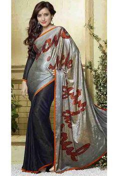 Black Color Silk, Jacquard Saree