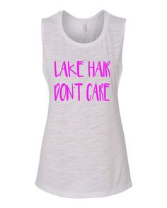 Etsy listing at https://www.etsy.com/listing/243254107/lake-hair-dont-care-muscle-t-shirt-tank. Color=mint. Size=L