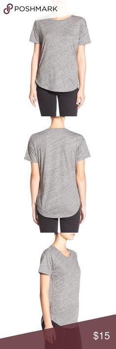Madewell Whisper Cotton crew neck Every wardrobe needs the perfect slouchy tee that can be easily mixed and remixed with just about everything in your closet. This lightweight base layer fits the bill and features a cute shirttail hem. Only worn a small handful of times, still in perfect condition! Madewell Tops Tees - Short Sleeve