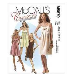 Misses' Lined Dresses McCall's 5879