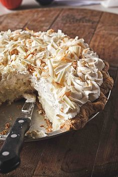 Learn how to make the triple coconut cream pie from Tom Douglas's Dahlia Bakery in Seattle.