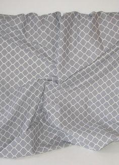 Custom Baby Bedding, Grey & White Quatrefoil, Lattice, Moroccan Tile, Cotton, Boppy Cover, Crib, Bassinet Sheet, Bib, Changing Pad Cover