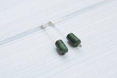 Long green jade earrings 20's inspired christmas gift