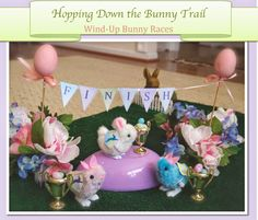 wind up bunny races - fun easter activity with printable