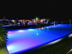 Over looking the pools at night at Buccament Bay Resort, St Vincent & The Grenadines #Travel