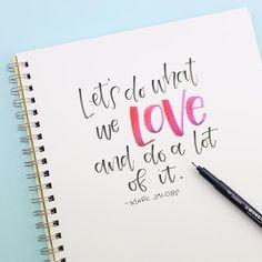 Let's do what we love and do a lot of it! Using Tombow MONO Drawing Pen
