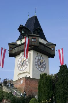 Graz Austria, Hungary, Vienna, Big Ben, Places Ive Been, Germany, Tower, Clock, World