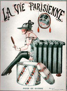maudelynn:  La Vie Parisienne Cover Art for October 1918, by Rene Vincent