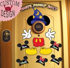 Sorcerer Mickey Personalized Disney Cruise Door Magnet by Alluna