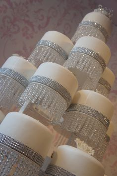 A variety of solid colors of Glam Ribbon Diamond Cake Wraps cake decoration. The easiest way to add bling to your wedding cakes and birthday cakes instantly. Works great on rolled fondant cakes and buttercream cakes. Beautiful Wedding Cakes, Gorgeous Cakes, Pretty Cakes, Amazing Cakes, Bling Cakes, Fancy Cakes, Bling Wedding Cakes, Cake Wedding, Diamond Cake
