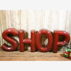 Vintage enamel SHOP sign -- $770.00 on Fab.com!