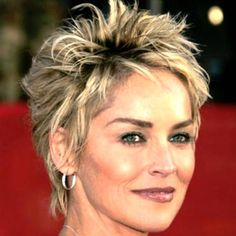 cute short pixie haircuts 2015 sharon stone - Google Search