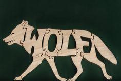 Wolf Wood Puzzle Cut On Scroll Saw by DukesScrollSaw on Etsy, $7.00