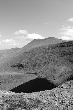 Galtee Mor, over 900 metres tall (left high peak) - (photo: Sean Fagan).