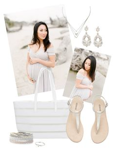 """""""Simple Mama - Grey Sweetheart Maternity Gown by Sew Trendy"""" by sewtrendy on Polyvore featuring BUCO, Stella & Dot, Aéropostale and Turner & Leveridge"""