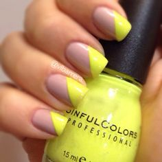 nude & neon nail polish OPI - My very first knockwurst Sinful Colors - Neon Melon
