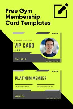 This is a list of some of our favorite and most popular free gym membership card templates. Feel free to take any of the gym id card ideas we've listed here and edit them as your own! Id Card Template, Card Templates, Free Gym Membership, Vip Card, Alchemy Symbols, Names, Feelings, Card Ideas, Popular