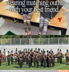 Marching band: Because I'm a band nerd. :)