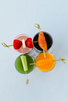 A healthy pop of color. Which juice would you choose? #30DeliciousDays #Asiate #Health