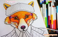 This Fine Fox Is Going To Be A Coloring Page In Thaneeya McArdles Upcoming Handsome Animals Book Which Will Published By Chapel