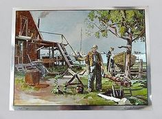 Vintage Lionel Barrymore Point Mugu Color Foil Etch Large Format Print
