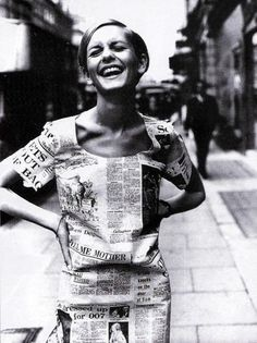 Twiggy in a paper dress in London, June 1967 #love