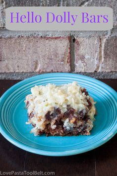 Hello Dolly Bars- Love, Pasta and a Tool Belt #desserts