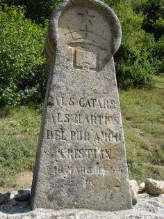 Cathar Memorial.Montsegur. Langudoc.