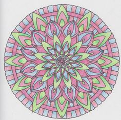 Mandalas 002 from Color me Calm by Lacy Mucklow and Angela Porter