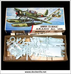 Plastic Model Kits, Plastic Models, Airfix Models, Airfix Kits, Hobby Shop, Old Models, Model Airplanes, Ho Scale, Red Stripes