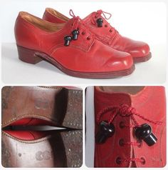 1940's red CC41 shoes