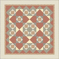 Make a bold statement with this graphic quilt. The Four of a Kind Quilt Pattern…