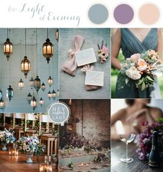 Soft and Romantic Candlelight Wedding Inspiration in Pale Aqua and Purple | See More! http://heyweddinglady.com/soft-and-romantic-candlelight-wedding-inspiration/