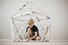 Newpaper Forts: Forget the traditional blanket and pillow fort and follow All For the Boys instructions for these fun and eco-friendly hideaways.  Source: All For the Boys