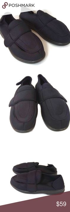 674fc96bae27 NWOT Propet Mens Black Shoes No Laces Size 14 New Without Tags Propet Men s  Black Shoes