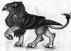 Images For > Pencil Sketches Of Mythical Creatures