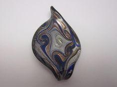Hand Blown Glass Necklace Pendant Swirl Multi-Color Jewelry Handcrafted #Handmade #Pendant #handblownglass