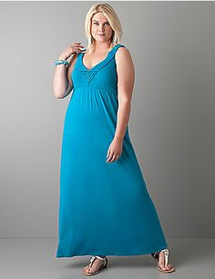 Macramé maxi dress by Lane Bryant