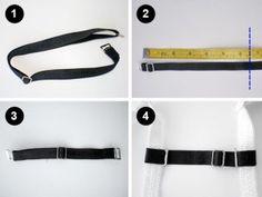 DIY bra strap holder steps