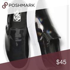 Vans UNISEX Patent Leather Skater Sneaker Slip on Vans.  Shiny patent leather in black. Women's 10.5, Men 9. Brand New , never worn.  NWOT Vans Shoes Slippers
