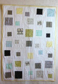 Springtime Modern Baby Quilt by NancyJoStudio on Etsy