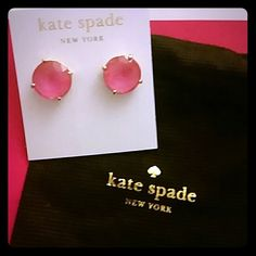 Kate Spade Large Pink Gumdrop Earrings New with tags, never worn.  Comes with dust bag, gift box, and can include shopping bag if you want. GREAT GIFT! kate spade Jewelry Earrings