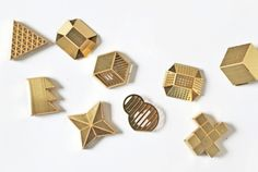 Little brass button clips by Studio Swine