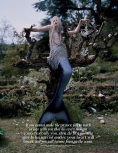 """""""Far, Far from Land"""" – Kristen McMenamy by Tim Walker for W 