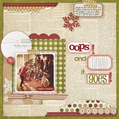 Oops, and Down It Goes by Jill Cornell from Creating Keepsakes November/December 2013
