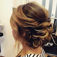 curly+updo+for+brown+hair+with+highlights