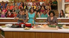 Phylicia Rashad and Condola Rashad cooking with Carla Hall on The Chew